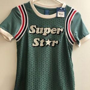 NEW Arizona Jean Co Girl Super Star Top Sz 16